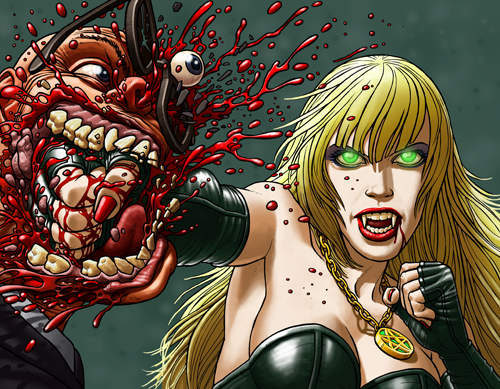 Dead Girls #3 front wraparound cover by Paul McCaffery