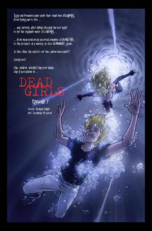A title page from Dead Girls 4 by the artist Leonardo M Giron.